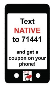 Text For  a Coupon!