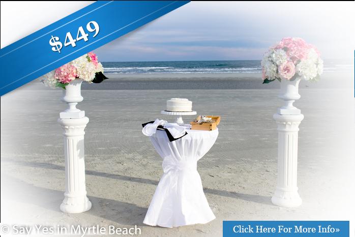 Cheap Wedding Package Elopement Myrtle Beach