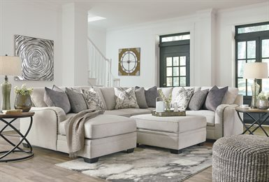 Dellara Upholstered 4PC Sectional Chalk