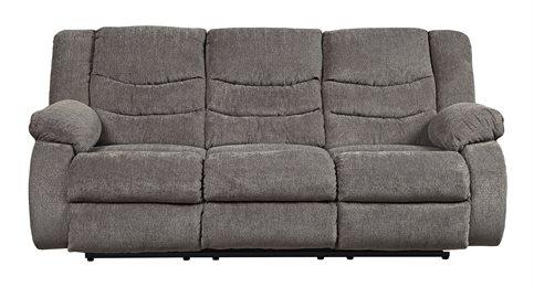 Tulen Upholstered Reclining Sofa Gray