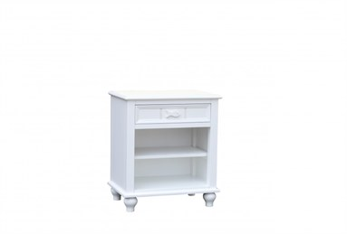 Fishtails One Drawer With Shelf Nightstand White