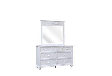 Fishtails Seven Drawer Dresser White