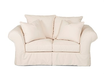 Charleston Upholstered Slip Cover Loveseat