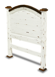 Cottage Rustic Twin Headboard Distressed White