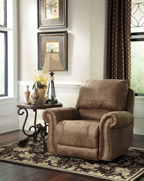 Larkinhurst Uphostered Rocker Recliner Brown