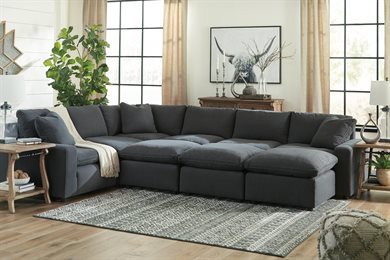 Savesto Upholstered 6 PC Sectional Charcoal