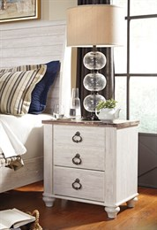 Willowton Two Drawer Nightstand Whitewash
