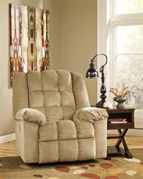 Ludden Upholstered Power Rocker Recliner Sand