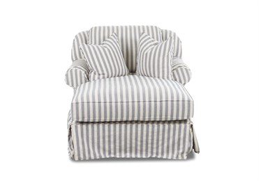 Charleston Upholstered Slip Cover Chaise