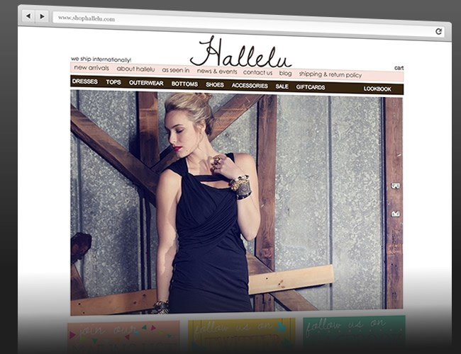 Website Design- Shop Hallelu
