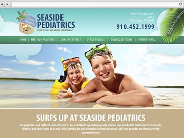 Seaside Pediatrics - Doctor Web Design