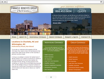 Pinnacle Benefits Group - Insurance Website Design