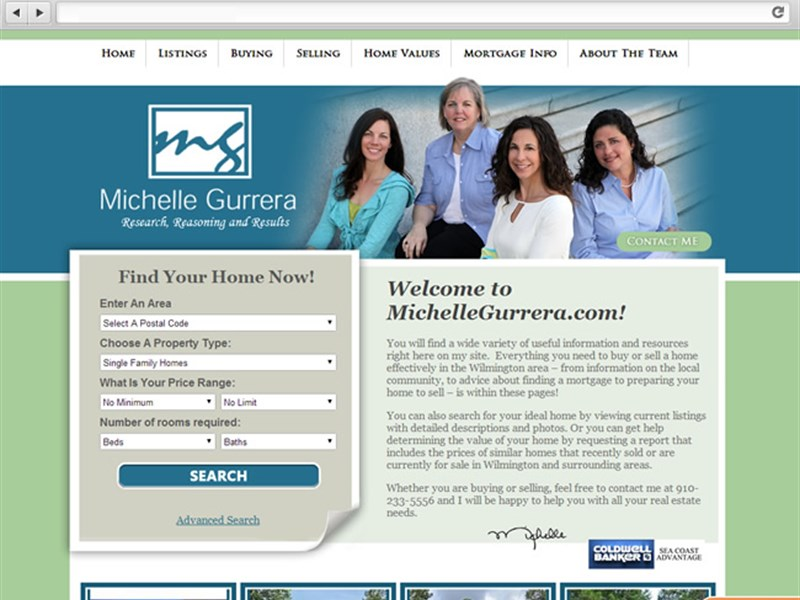 Michelle Gurrera Real Estate Web Design