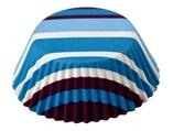 Bake Cups; Purple/Blue Stripe