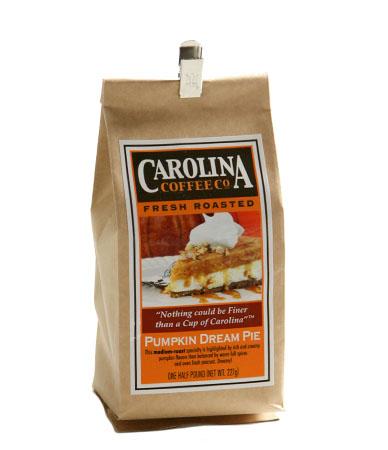 Carolina Coffee Pumpkin Dream Pie Swiss Water Decaf