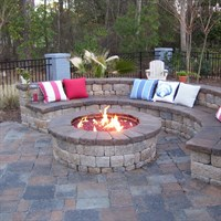 Custom Gas Burning Firepit with glass