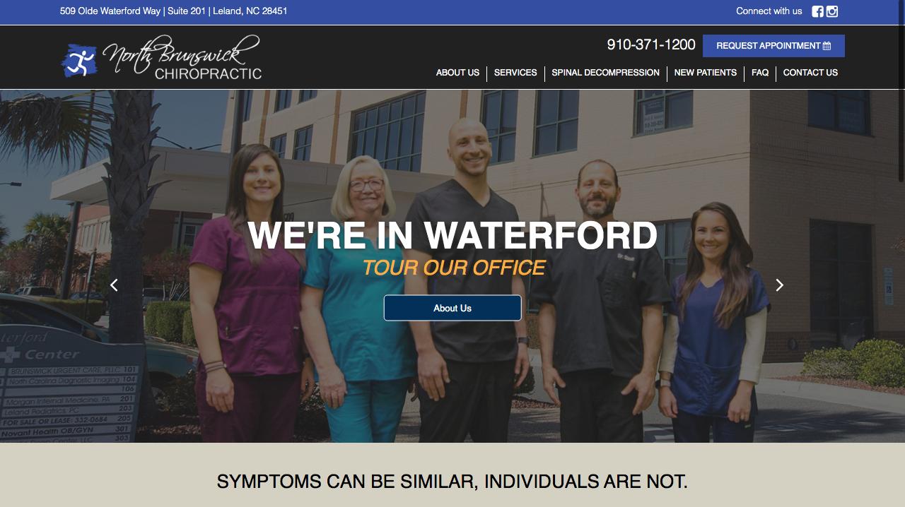 North Brunswick Chiropractic - Web Design