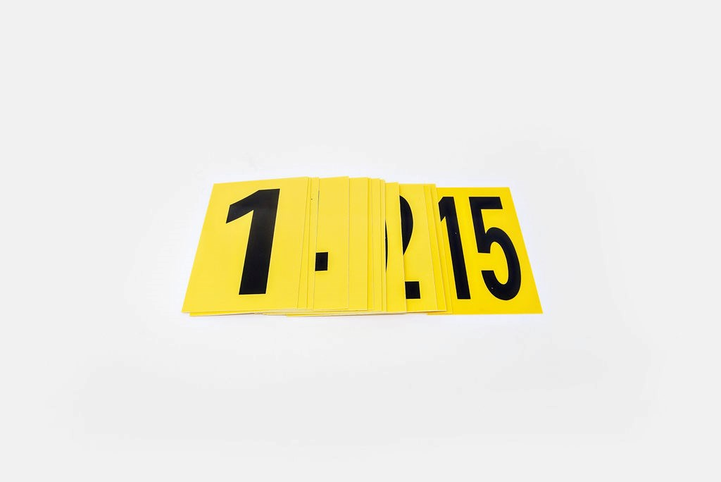 Evidence Markers, #1-15, Lay down