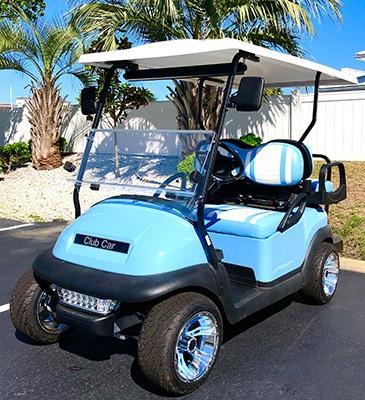 2020 Club Car 4 Passenger Custom Build with Wheel Inserts