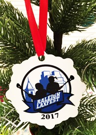 OR-CL Custom Logo Snowflake Lacrosse Ornament