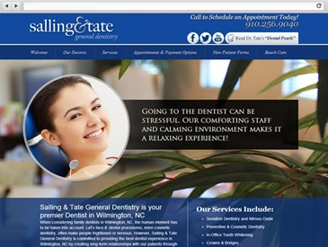 Salling and Tate - Dentist Web Design
