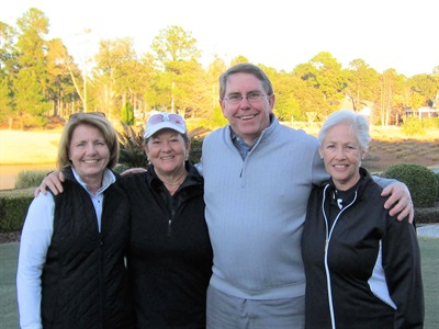 Lori Schmidt, Joyce Dalton, Ernie Hanewinckel, Carolyn Cubley - 2018 Pro Appreciation Low Gross Flight 2