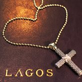 Lagos Lagos Diamond Cross Pendant available at Albert F. Rhodes Jewelers