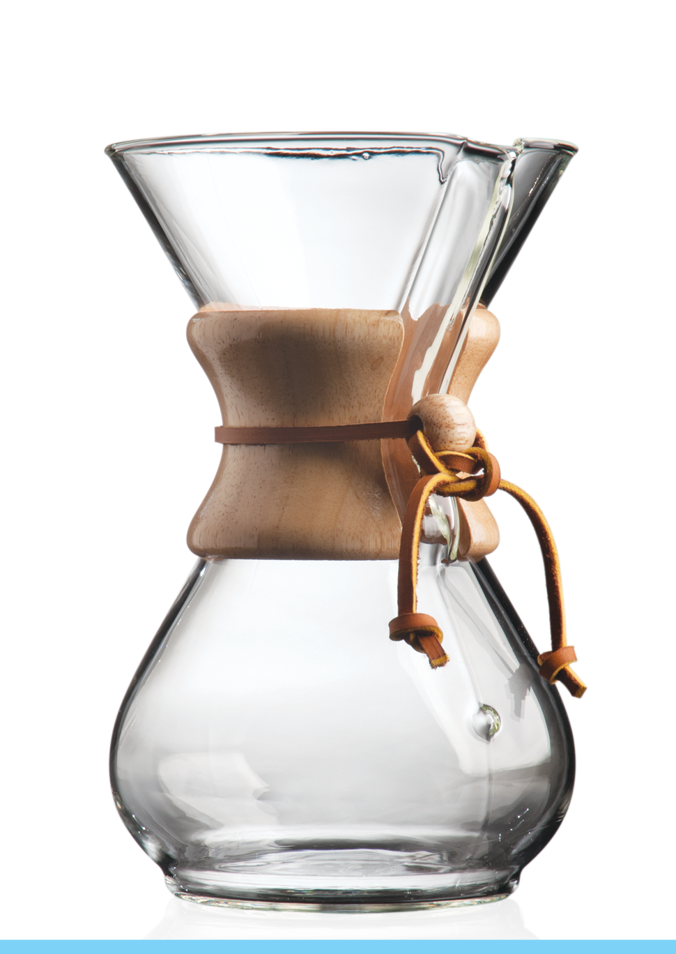Carolina Coffee Chemex® 6-Cup Coffeemaker With Wood Collar and Tie