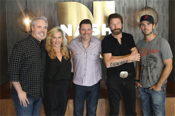 L R Americas Morning Shows Blair Garner Kelly Ford Jay DeMarcus Ronnie Dunn And Chuck Wicks