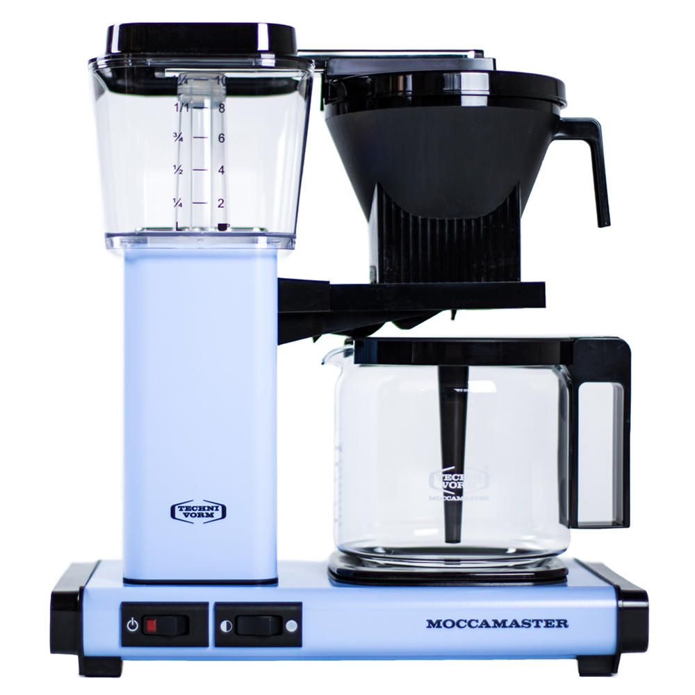 Carolina Coffee A Technivorm Moccamaster KGB Automatic Drip Stop Coffee Maker With Glass Carafe - Sky Blue