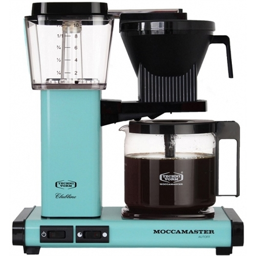 Carolina Coffee Technivorm Moccamaster KBGV Select Automatic Drip Stop Coffee Maker With Glass Carafe - Turquoise