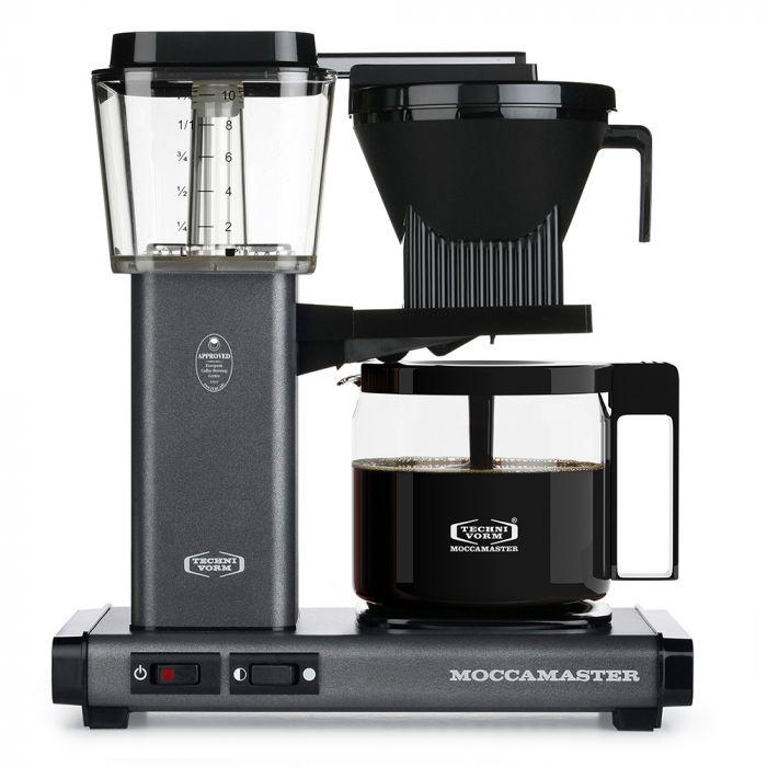 Carolina Coffee Technivorm Moccamaster KBG Automatic Drip Stop Coffee Maker With Glass Carafe - Stone Gray